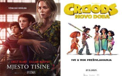 U kinu: Mjesto tišine 2 i Croods: Novo doba