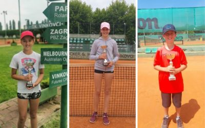 Đakovačke tenisačice i tenisači uspješni u Puli, Vinkovcima i Virovitici