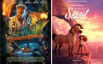 U kinu: Krstarenje džunglom i Divlji Spirit