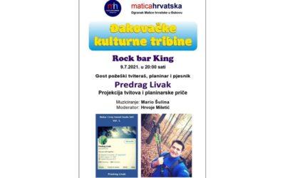 Đakovačke kulturne tribine ovog petka u Rock baru King