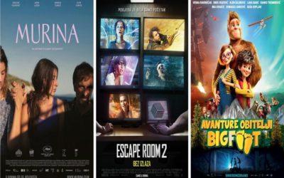 U kinu: Murina, Escape Room 2: Bez izlaza, Avanture obitelji Bigfoot