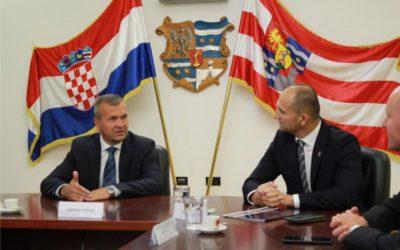 Župan Ivan Anušić na radnom sastanku u Varaždinskoj županiji