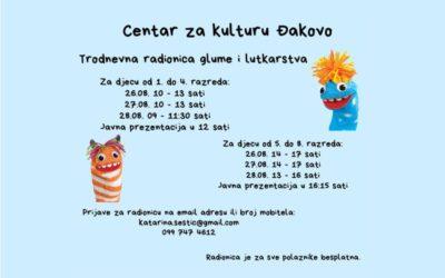 Trodnevna radionica glume i lutkarstva u Centru za kulturu