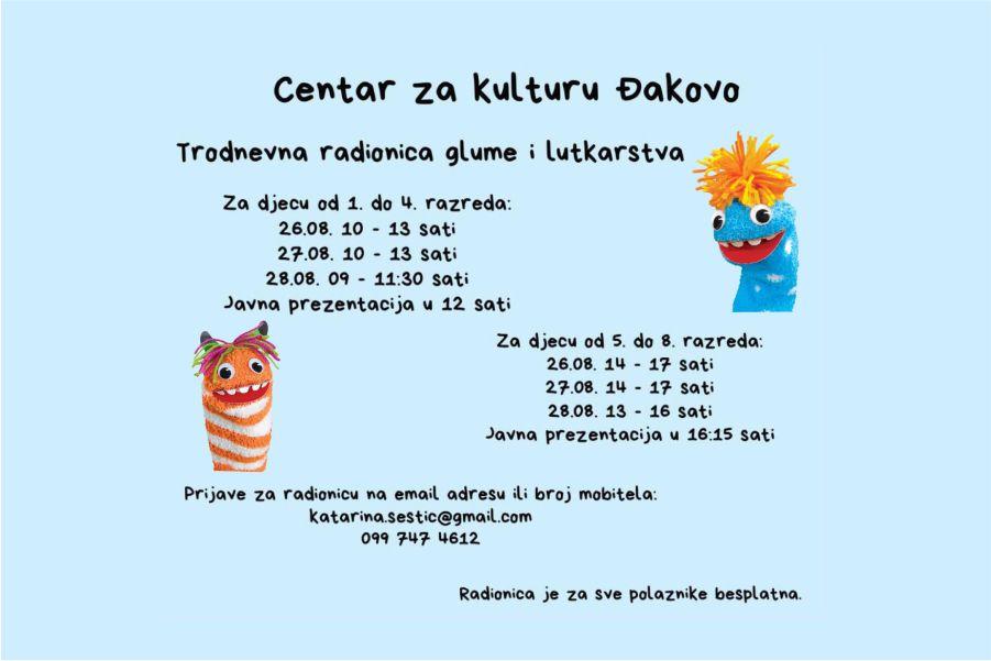 Radionica glume i lutkarstva_foto_Centar za kulturu Đakovo